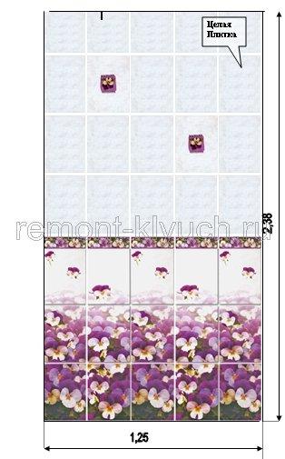 схема укладки плитки в туалете